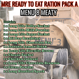 Type A Ration Pack Menu 8 Meaty