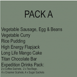 Award & Expedition 24 Hour Ready to Eat pack 2019  PACK A VEGETARIAN