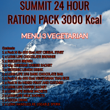SUMMIT 24 Hour 3000 Kcal Vegetarian Ration Pack 3