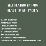 SELF HEATING 24 Hour Ready to Eat Pack 6 MEATY