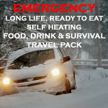 Emergency Long Life, Ready to Eat, Self Heating Travel Pack