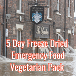 5 Day Freeze Dried Emergency Food Vegetarian Pack
