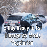 5 Day Ready to Eat  Emergency Food vegetarian Pack