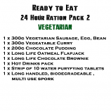 MRE Ready to eat 24 hour ration Pack 2 Vegetarian - 2019