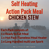 Action Hot Pack Self Heating Meal CHICKEN STEW