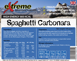 Extreme Adventure Food 800 Kcal  Spaghetti Carbonara