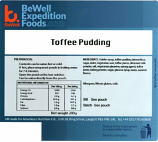 200g Toffee Pudding MRE Wet Meal